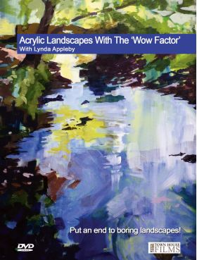 Lynda Appleby Acrylic Landscapes with the Wow Factor DVD available at The Artists Place in Texas